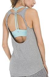 Queenie Ke Womens Prime Yoga Sport Tank Top Vest Super Soft Cowl Back Size Xl Color Light Grey