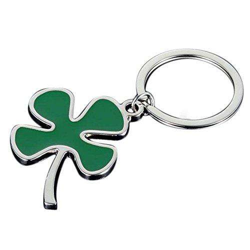 Ogquaton Premium Qualität Metall Schlüsselanhänger Glück Vier Kleeblatt Handtasche Tasche Auto Keychain Anhänger Dekoration -