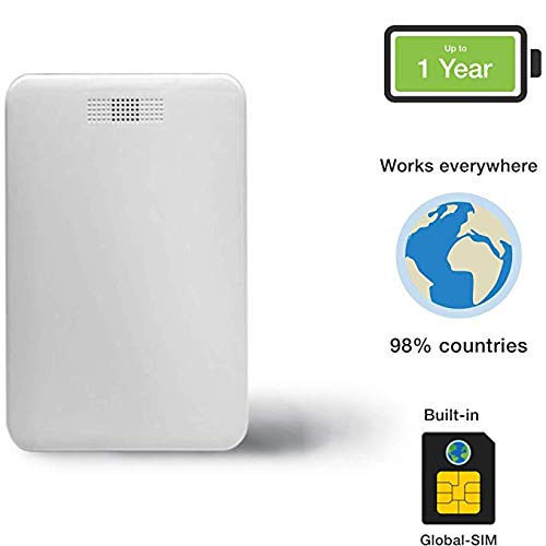 Trackee R Professional Portable Wi-Fi/GSM Tracker with up to 1 Year Battery Life. Remote Control & Online Monitoring in Real-Time Tracking App IP54, White