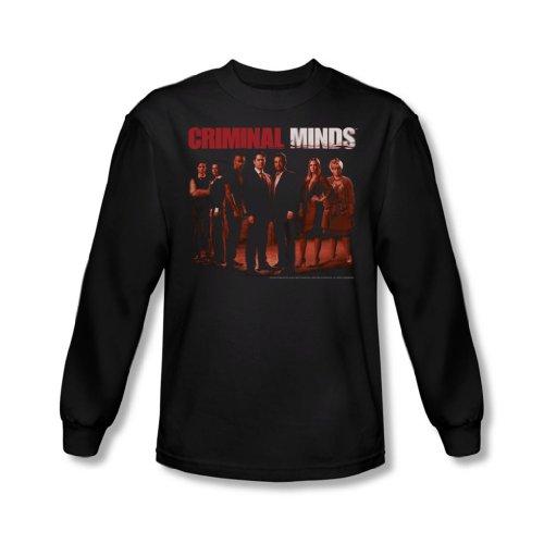 Criminal Minds - Herren The Crew Langarm-Shirt In Schwarz Black