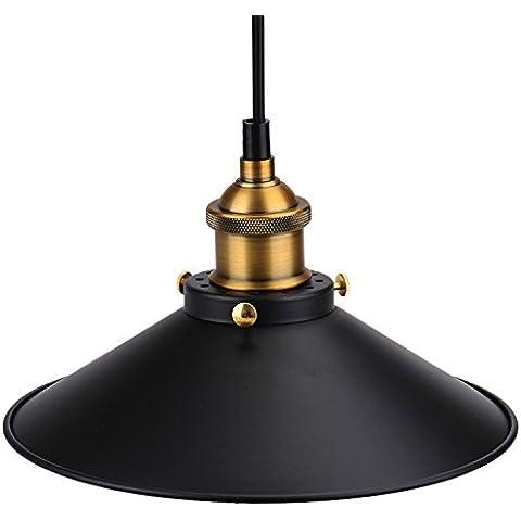 Caffè schermo barra in metallo, Pub Loft del club di cucina diffusi ombra decorazione della lampada della luce della vendemmia corridoio industriale Edison sospensione della lampadina Tenda schermo