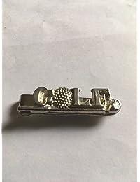 Golf Schild auf Club Größe 5cm x 1,5cm tg271aus feinem englischen Moderne Zinn auf einer Krawatte Clip (Slide) geschrieben von uns Geschenke für alle 2016von Derbyshire UK