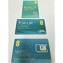 EE Pay As You Go 4G NANO / MICRO & STANDARD Sim SEALED - For Iphone 4, 4S, 5, 5S, 5C, 6, 6S, 6+, Samsung Galaxy S-1, 2, 3, 4, 5, 6