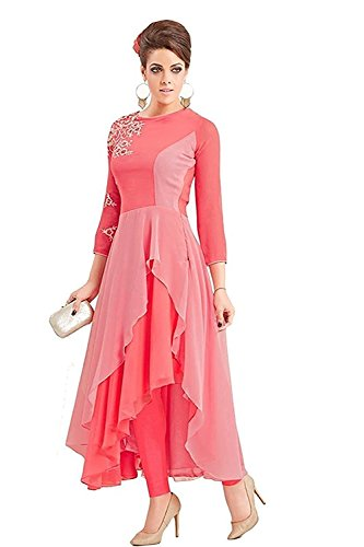 Kurti (SHREE Women\'s New Style Pink Western Dress)