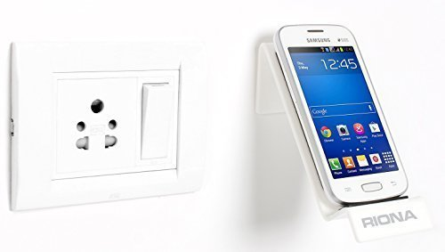 Riona Bathroom/Kitchen Wall Mobile Holder/Stand - MobiHold A7S White