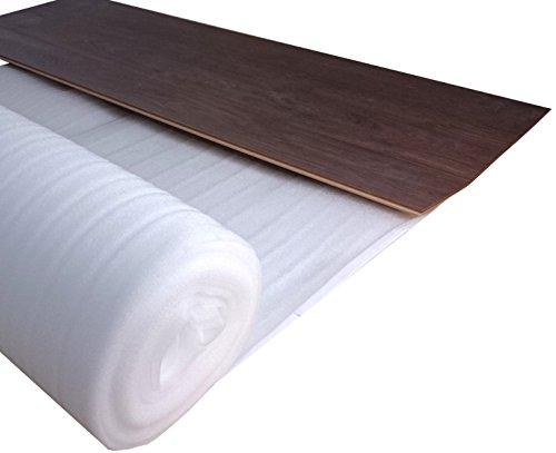 Laminat Trittschalldämmung uficell ULTRA PE-Schaum - Stärke 2 mm - Trittschalldämmung für Laminat und Parkettböden - Dichte: 20 kg/m² (50 m² | 2 Rollen)