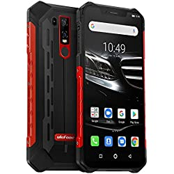 "Ulefone Armor 6E Smartphone Incassable Dual Sim 4G IP68 / IP69K Écran Full HD+ 6.2"" Telephone Portable Android 9.0 Octa-Core 4Go RAM et 64Go ROM, 5000mAh, NFC, OTG, Charge sans Fil - Rouge EU Version"