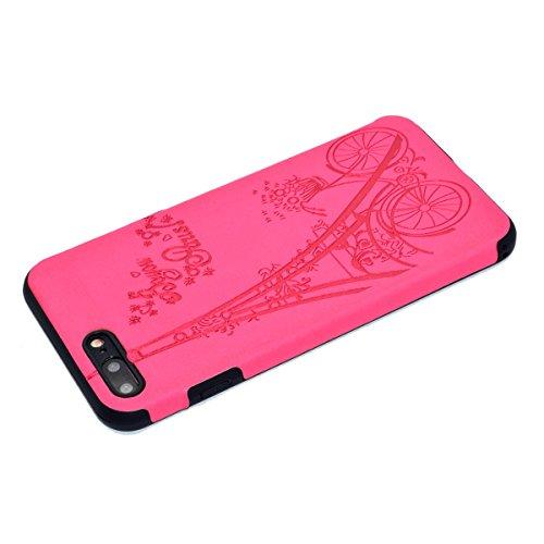 """inShang Hülle für iPhone 7 Plus 5.5"""" ,Ultra Schlank und leicht TPU Bequem Schutzhülle Rückcover (Back Case) design für Handy iPhone7 Plus 5.5 inch, Rose tower"""