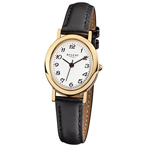 Regent 68224519ovale montre femme bracelet en cuir