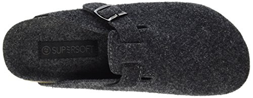 Supersoft 511 064, Chaussons Mules homme Grau (Dk. Grey)