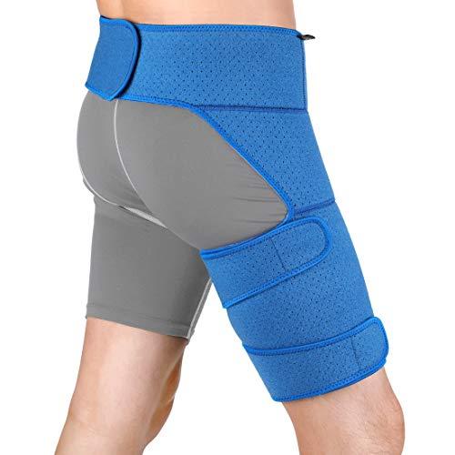 4ef68b4557 DOACT Hip Hamstring Support for Men and Women, Groin Strain Brace Belt for  Sciatica Leg
