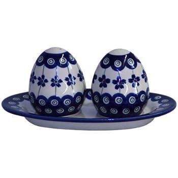Original Bunzlauer Keramik Pfeffer-und Salzstreuer Set im Dekor 8