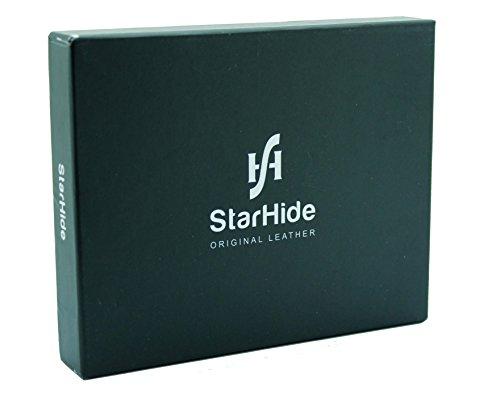 c80bb73bbc38 StarHide Men's Designer Full Zip Around Distressed Hunter Leather ...
