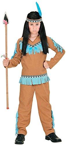 Widmann 06676 - Kinderkostüm Indianer, Mantel, Hose und Stirnband, braun, Größe (Und Pfeil Halloween Zubehör Bogen)