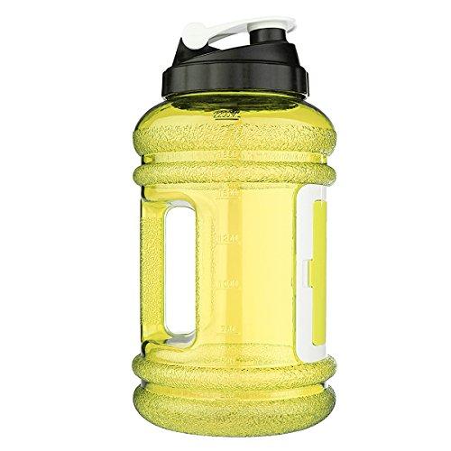 Bottiglia di Acqua Potabile Sport Borraccia Contenitore 2.2L BPA Libero Grande Capienza per lo Sport Palestra di Formazione Campeggio Allenamento - OUTERDO