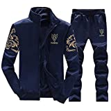 Herren Trainingsanzug Warm Jacke Fleece Sport Kapuzenpulli Mantel Hoodies + Pants Sweat Suit Männer Jacke Sweatjacke Kapuzenjacke Top Outwear Bluse Volle Größe M-4XL
