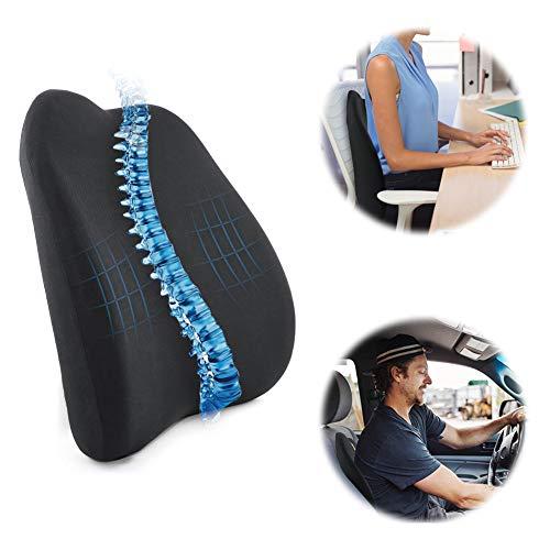 SEG Direct Orthopädisches Memory Foam Rückenkissen Lendenkissen Rückenstütze für Auto, Büro, Rollstuhl, Etc. -