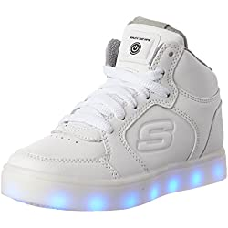 Skechers Energy Lights, Zapatillas Altas Para Niños, Blanco (White), 33 EU