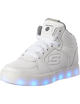 Skechers Energy Lights Wht, Zapatillas Altas para Niños, Blanco (White), 33.5 EU