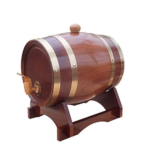 A-Fort Rack Holder Tonneau en bois de chêne, tonneau de cuve/vin/tonneau de vin décoratif/baril de...