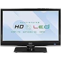"""Trevi LTV 1601 SAT Televisore LED HD 16"""" con Decoder Digitale Terrestre DVB-T2 HEVC e Satellitare DVB-S2, Risoluzione max 1366 x 768 dpi HD Ready"""