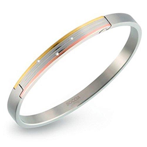 4 3 Karat Diamant-ohrringe (Boccia Damen-Armreif Titan mattiert Diamant (0.015 ct) weiß Brillantschliff - 03005-03)