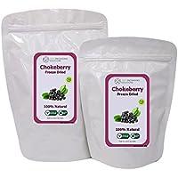 Chokeberries liofilizados 100% naturales, sin gluten, sin azúcares añadidos, sin conservantes, merienda de fruta saludable (100g)