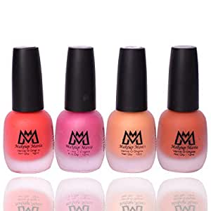 Makeup Mania Premium Nail Polish Set, Velvet Matte Nail Paint Combo of 4, Home & Professional Use, Perfect Gift for Girls & Women (MM#64)