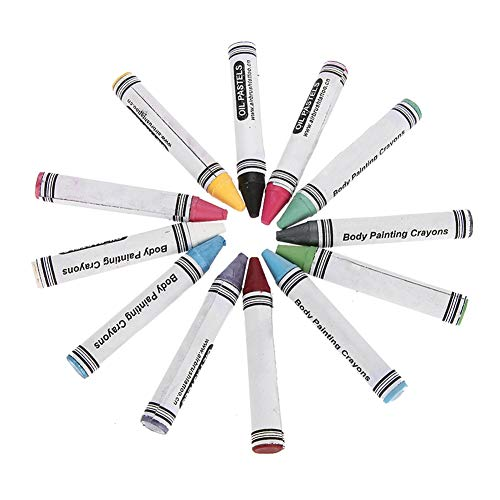 Body Paint Crayons Set, 12 Farben Professionelle auf Wasser basierende Nicht toxische Gesichtsfarbe Sticks Stifte Bunte Malerei Pen Halloween Make-up