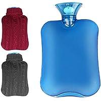 2 Stück Wärmflasche, Transparent Weich Wärmflasche 2L mit Abnehmbare & Waschbare Strickbezug - Schnelle Schmerzlinderung... preisvergleich bei billige-tabletten.eu