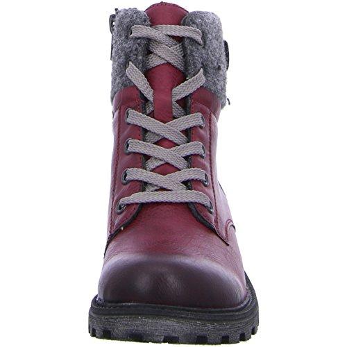 Rieker Mädchen K7473 Combat Boots wine/granit 9bggTG8ZNi