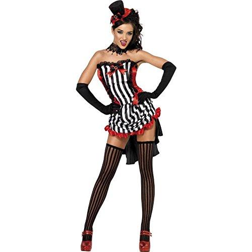 Vamp Kostüm, Rock, Oberteil und Hut, Größe: M, 32953 (Vampirella Halloween-kostüm)