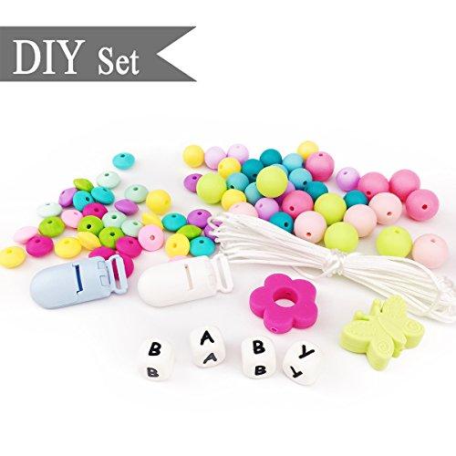 Best for baby Silicone Perles de fleurs Sucette Clip Perles d'Abacus DIY Collier d'allaitement Silicone Bracelet Montessori Toy