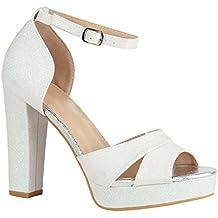 separation shoes 2ae34 7653a Suchergebnis auf Amazon.de für: weisse plateau sandalen - 3 ...