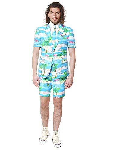 Opposuits Flaminguy Anzug für Herren besteht aus Sakko, Hose und Krawatte, Flaminguy, 52