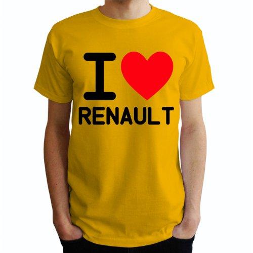 I love Renault Herren T-Shirt Gelb