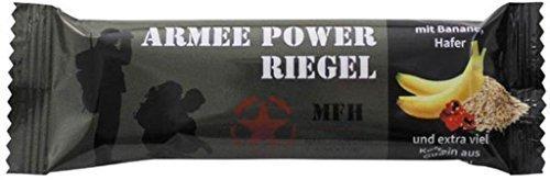 5 Stück MFH Armee Army Power Riegel 60 g Haferriegel mit Banane und Guarana Kraftriegel