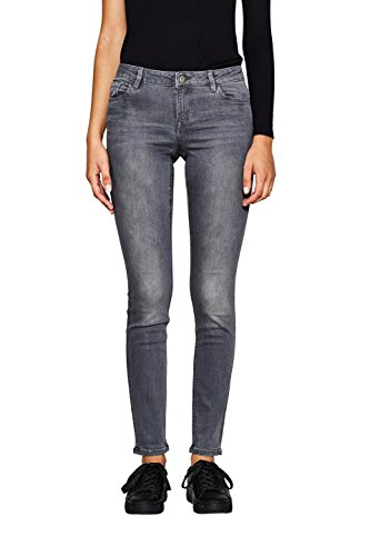 edc by ESPRIT Damen Jeanshose 996CC1B904-Super Soft, Grau (Grey Light Wash 923), 28/30 (Baumwolle-5-pocket-jean)