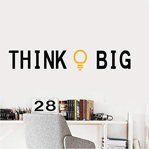 wuyyii Zitate Denken Big Gold Idee Home Wandaufkleber Wandbild Kunst Büro Klassenzimmer Schlafzimmer Dekor Kinderzimmer Dekoration Zubehör Natur