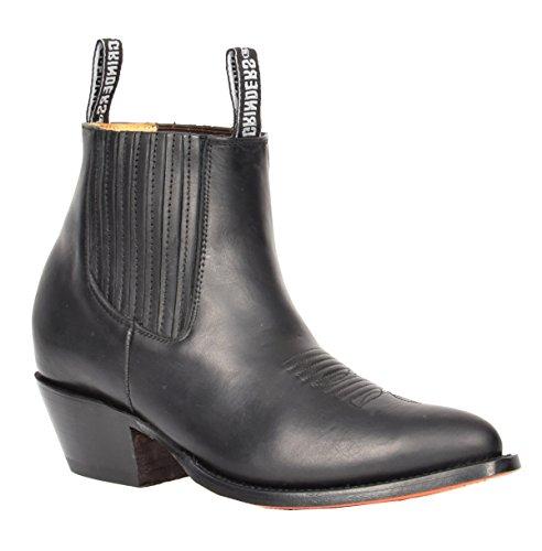 8916fc770fc16f House of Luggage Herren Echtes Leder Chelsea Stiefel Cowboy Stil Spitz Zehe  Knöchel Schuhe HLG06MAL (