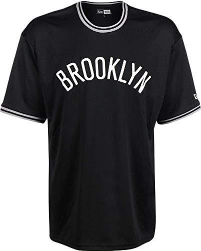 New Era NBA Tipping Wordmark Brooklyn Nets T-Shirt Herren schwarz, L (Brooklyn Nets-t-shirt)