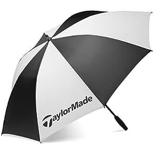 "2015 TaylorMade 62"" Single Canopy Mens Golf Umbrella Black/White"
