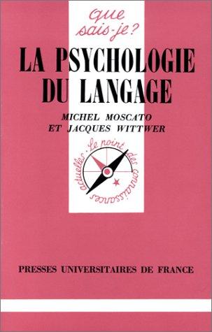 La psychologie du langage