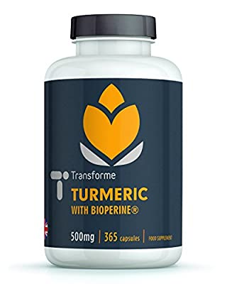 Turmeric Curcumin with BioPerine | 365 Veg Capsules | Additive Free with Excellent Curcumin Absorption from the addition of BioPerine | 100% Money Back Guarantee by Save on Supplements