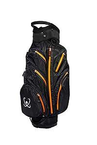 100% GUARANTEED Waterproof Golf Cart Bag 2017 stock Black/Orange - Clearance