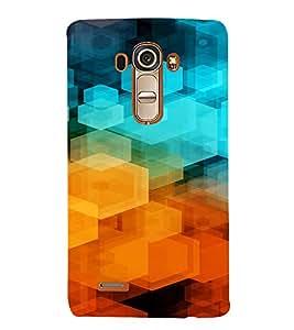PrintVisa Color Block Prisma Pattern 3D Hard Polycarbonate Designer Back Case Cover for LG G4