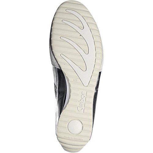 GABOR comfort - Damen Halbschuhe - Grau Schuhe in Übergrößen Dunkelbeige