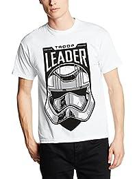 Star Wars the Force Awakens Adult Male Troop Leader Stormtrooper, T-Shirt Homme