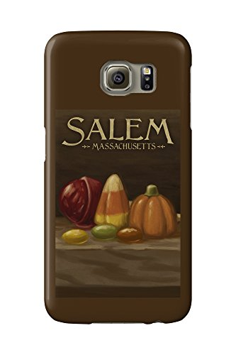 Salem, Massachusetts - Candy - Halloween Oil Painting (Galaxy S6 Cell Phone Case, Slim Barely ()