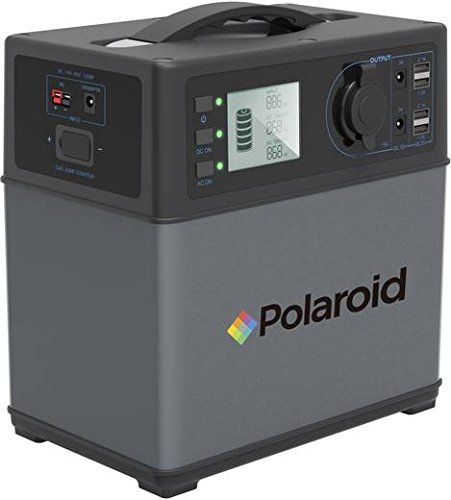 Polaroid LE5B Hochleistungsakku - Energiespeicher mit Lithium-Ionen Zellen - Solar Generator - AC 220 V, 300 W zusätzlich 12 V Solar Generator, Portable